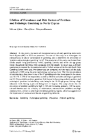 Lifetime of Prevalence and Risk Factors of Problem and